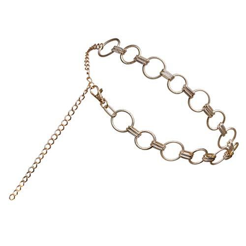ABOOFAN O-Ring Chain Cinturones de Vestir de Cadena de Metal Cintura Cinturón...