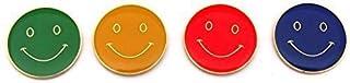 Lot de 4 badges smiley en métal