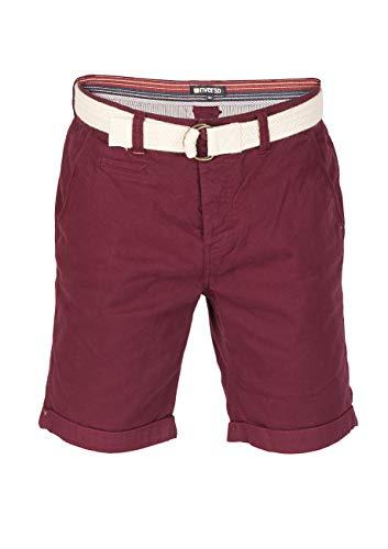 riverso heren Chino shorts RIVHenry riem bermuda korte broek 98% katoen lichtblauw donkerblauw navy rood groen oranje beige grijs w30 - w42
