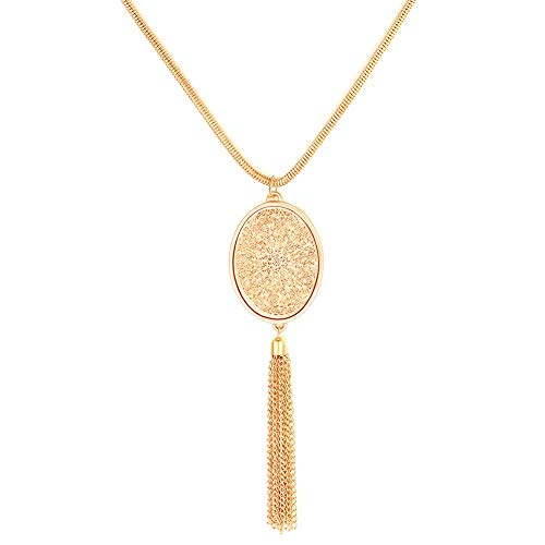 jieGorge Dream Catcher Necklace Pendant Statement Necklace For Women Girls , Necklaces & Pendants , Products for Xmas Day (Gold)