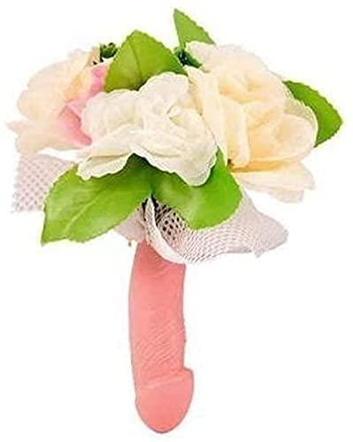 Dream' s Party Bouquet Sposa con Manico Pene e Fiori per Addio al Nubilato - Gadget Idea scherzi Regalo di Matrimonio