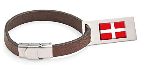 Select Gifts La Orden Soberana y Militar de Malta Bandera Etiqueta de Equipaje de cuero Texto grabado de acero