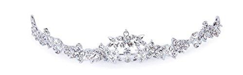 Unbekannt Tiara Diadem Blumen Perlen Stras Haarschmuck Stirnschmuck Blüten Braut Hochzeit