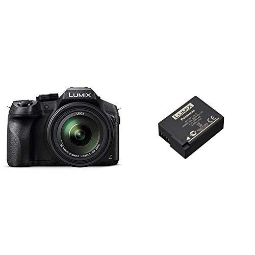 Panasonic LUMIX DMC-FZ300EGK Premium-Bridgekamera (24x Opt. Zoom, Leica DC Weitwinkel-Objektiv, 4K Foto/Video,Staub-/Spritzwasserschutz) schwarz & LUMIX DMW-BLC12E Li-Ionen Akku 7,2V, 1200 mAh