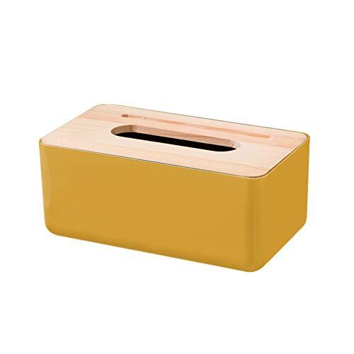 PPING kosmetiktücher Spender kosmetiktuchbox Taschentuchboxen Taschentuchbox Würfel Tissue Box Halter Taschentuchhalter für zu Hause Yellow