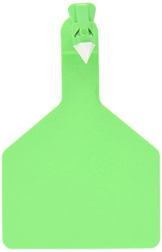 ZTags Lot de 25 étiquettes Vierges pour Vache Vert