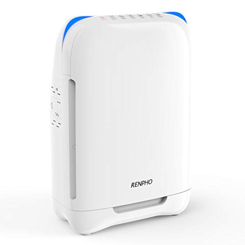 RENPHO Air Purifier for Allergies and Pets, Air Purifiers for Home Large Room with True HEPA Filter, Eliminates Odors Mold Dust Smoke Pollen for Bedroom, Air Quality Sensor, RP-AP001