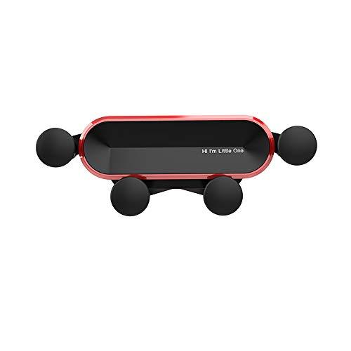 Rsaljldp Soporte para teléfono de coche de gravedad, manos libres, soporte de teléfono para coche, soporte de teléfono para coche, soporte para teléfono móvil, compatible con todos los smartphones GPS