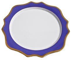 Anna Weatherley Anna's Palette Indigo Blue Charger Service plate