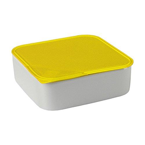 Arzberg Küchenfreunde Kunststoff gelb Frischebox 18x18 cm, Porzellan, White, 21.2 x 21.2 x 7.3 cm