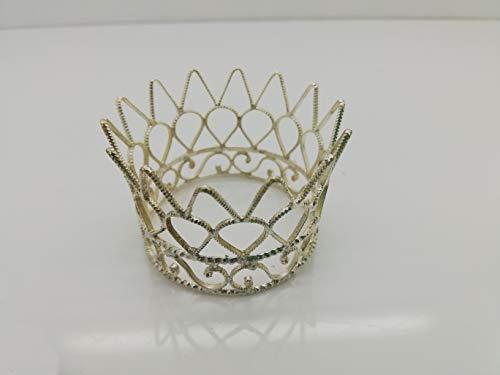 Einfache Krone silberfarben für Könige Krippenfiguren, Biblische Erzählfiguren und Egli-Figuren