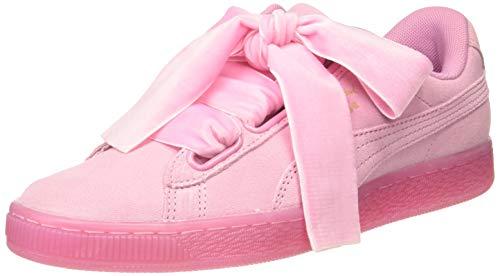 Puma ,Suede Heart Satin, Donna, Sneaker Rosa, 39 EU