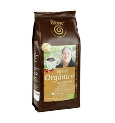 GEPA Bio Café Organico ENTCOFFEINIERT - Kaffee gemahlen 1 Karton ( 6 x 250g )