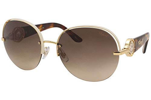 Chopard Damen SCHB67S5908MZ Sonnenbrille, Shiny Gold Copper with Coloured Part, 59/18/135