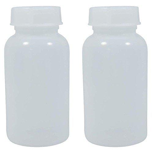 2 x Weithalsflasche 500 ml mit Schraubverschluss, Apothekerflasche, Laborflasche, Medizinflasche, Vorratsdose, Kunststoffdose, aus Kunststoff (PE-LD), BPA frei - made in Germany