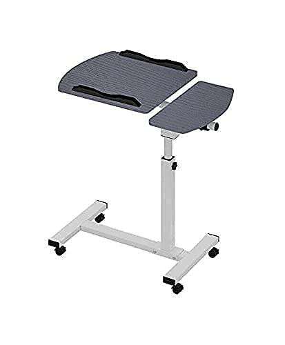 Multifunktionellt hopfällbart bord, fällbart datorskrivbord på sängen, rullbord över sängen laptop matbricka sjukhus skrivbord laptop stativ litet skrivbord laptop-stativ för skrivbord litet bord laptop kyldyna dator