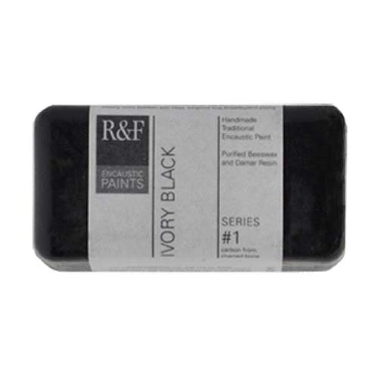 R&F Encaustic 40ml Paint, Ivory Black