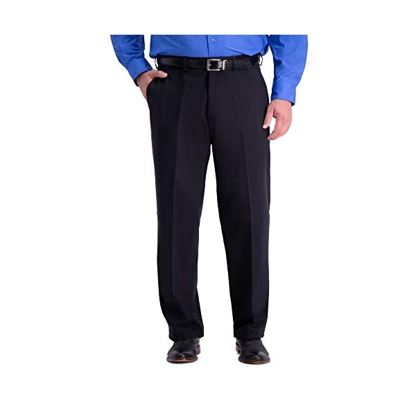 Haggar Men's B&T Work to Weekend Pro Relaxed Fit Flat Front Pant