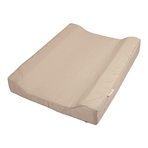 Filibabba® Materassino per fasciatoio deluxe a 2 cavità, 65 x 50 cm, rivestimento in PU, impermeabile, per fasciatoio lavabile, in cotone biologico, design danese (Doeskin)