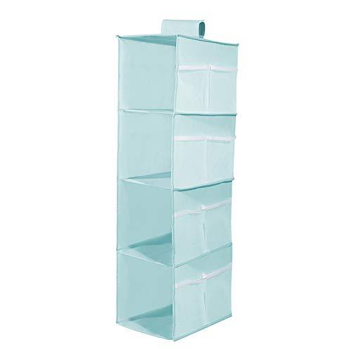 Armario colgante Compartimento de almacenamiento Bolsa de almacenamiento plegable Utilizado para ropa interior Sujetadores Bragas Calcetines Medias Armario Soporte de almacenamiento Organizador,Azul