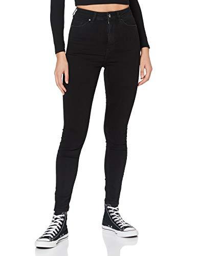 edc by ESPRIT Damen 990CC1B304 Skinny Jeans, 911/BLACK Dark WASH, 28/30