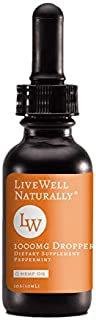 LiveWell Naturally Hemp Oil Extract for Pain, Anxiety & Stress Relief | 1000Mg Organic Hemp Extract | Grown & Made in USA | 100% Natural Hemp Drops | Helps with Sleep, Skin & Hair (1000mg, Peppermint)