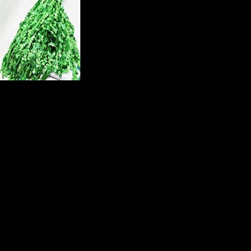 ALENAOO Pailletten Quaste Fransenbesatz Gold Silber AB für Latin Samba Kleid 15 cm 20 cm 30 cm 40 cm breit nähen, grüner Laser, 30 cm breit 6,5 Meter