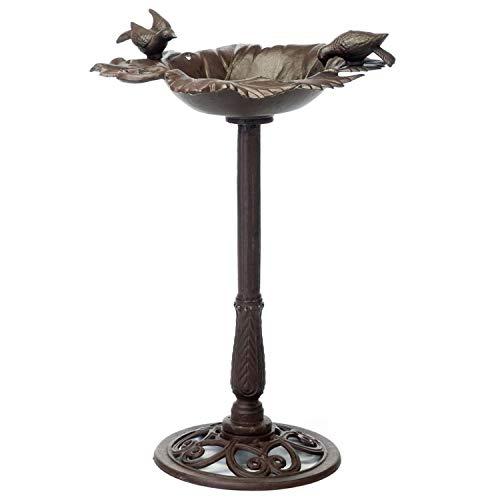 aubaho Grand Abreuvoir Bain pour Oiseaux pour Jardin - Style Antique/Campagne - Fonte