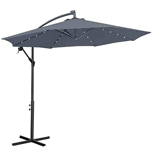 Novonova Cantilever Garden Parasol with LED Lights