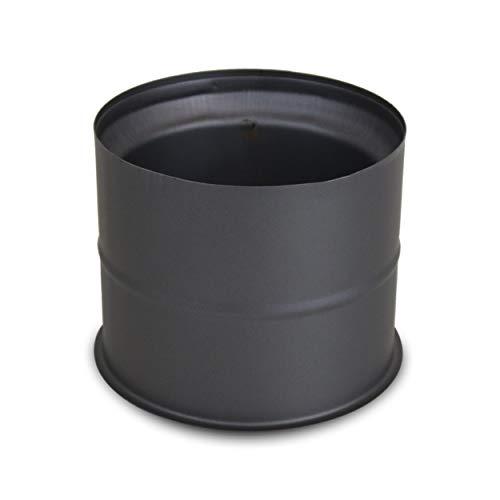 LANZZAS Ofenrohr Wandfutter/Mauermuffe, im Durchmesser Ø 150 mm, Farbe: gussgrau - weitere Rohre aus unserem Sortiment, finden Sie hier.