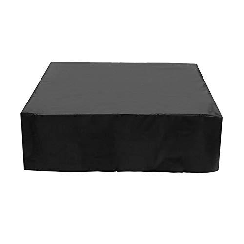AMDHZ Funda Mesa Jardin Funda para Muebles De Exterior Sofa Exterior En Blanco Y Negro Cubierta De Jardín A Prueba De Polvo E Impermeable Funda para Mesa Y Silla (Color : Negro, Size : 200x200x90cm)