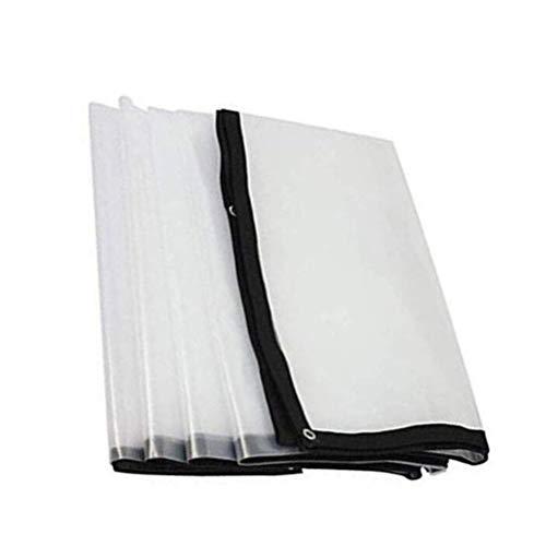HRFHLHY helder transparant dekzeil, kunststof doek, isolatie tarpaulin 120 g / m2 multiple grootte choosable