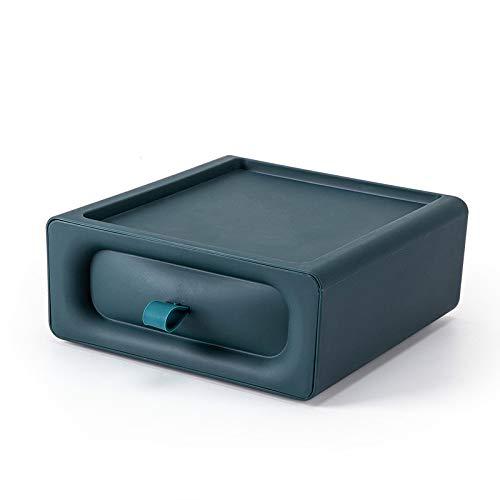 YUY Caja De Almacenamiento De Escritorio con Cajón Objetos Pequeños Papelería Escombros Organizador De Cosméticos Soporte Caja De Almacenamiento De Joyas Gabinete De Acabado,Blue