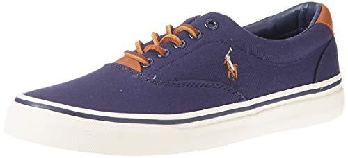 Ralph Lauren Polo Uomo Scarpa Sneaker Casual Sportiva Tela Art. 816713107004 40 EU - 7D USA - 6 UK Blu Navy Blue