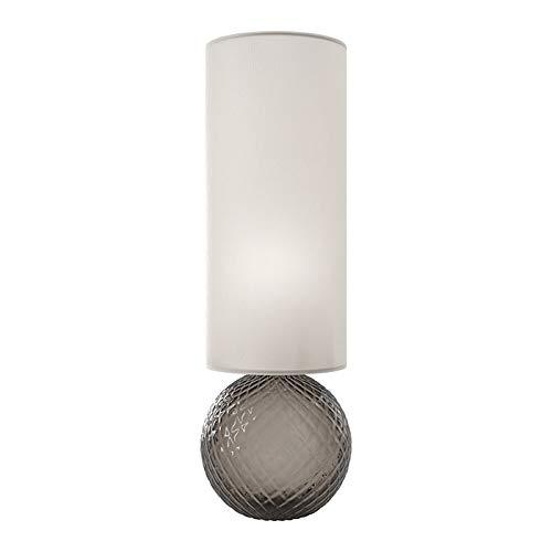 Venini Balloton 845.11 Tischlampe aus mundgeblasenes Glas mit Schirm aus Stoff - MADE IN MURANO, ITALY