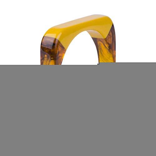 HMKLN VintageHarz Manschette Armband Armreifen Für Frauen Indische Mischungsfarbe Acryl Quadrat Geometrische ArmreifEleganten Schmuck