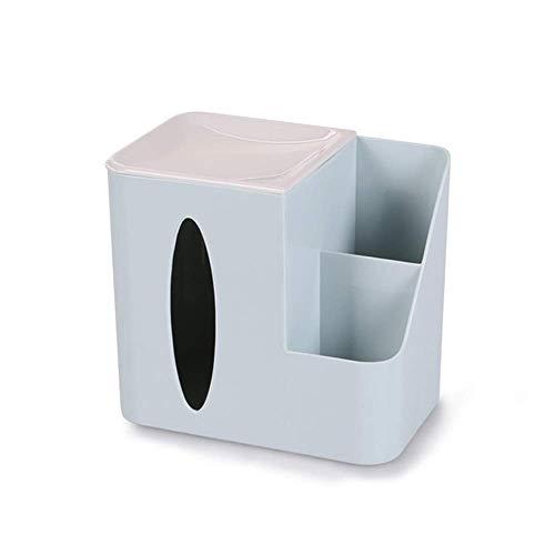 Caja de tejido Toalla de plástico de tres colores Toalla de toalla de toalla de servilleta Conjuntos de caja del dispensador para la decoración del hogar Caja de la caja de la caja multifuncional de l