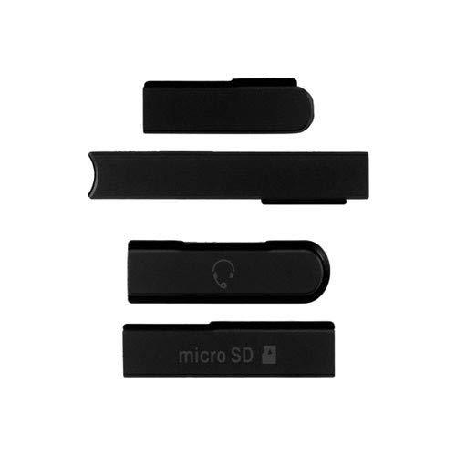 Ekon Micro SD+SIM Card USB Slot Port - Cover Plug for Sony Xperia Z - Black