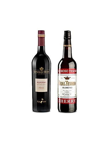 Mezclanza Exclusiva - Vino oloroso Alfonso de 75 cl y Vino Oloroso Tesoro de 75 cl