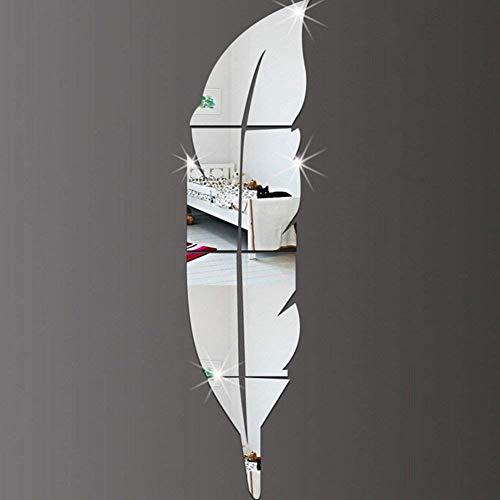 moderne DIY Feder-Spiegel-Wand-Aufkleber-Acrylart und weise 3D Hauptabziehbild-Wohnzimmer-Wand-48 x 12 Zoll (120 x 30cm) (Recht)