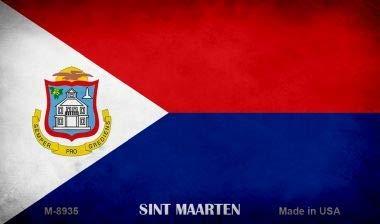 Koopje Wereld Sint Maarten Vlag Nieuwigheid Metalen Magneet (Met Sticky Notes)