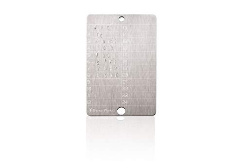bitcoin steel wallet (single)