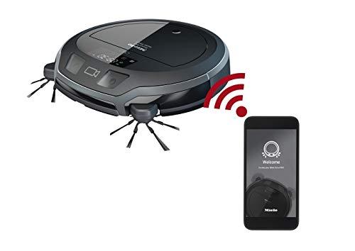 Miele Scout RX2 Home Vision Saugroboter (für jeden Boden, Staubsauger Roboter mit App-Steuerung, 2h-Akku, Robotersauger mit Smart Navigation) grau