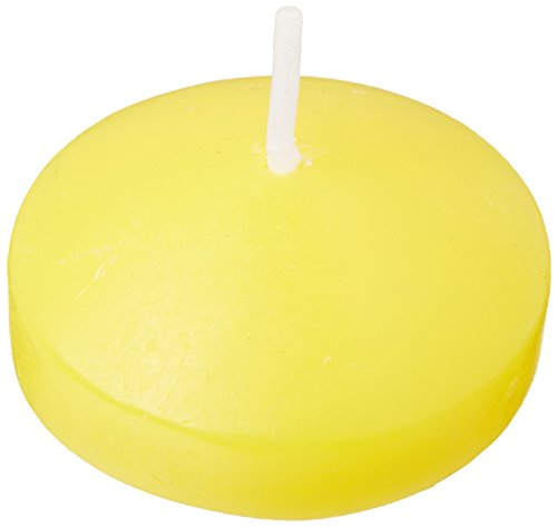 Zest Candle 24-Piece Floating Candles, 1.75-Inch, Yellow