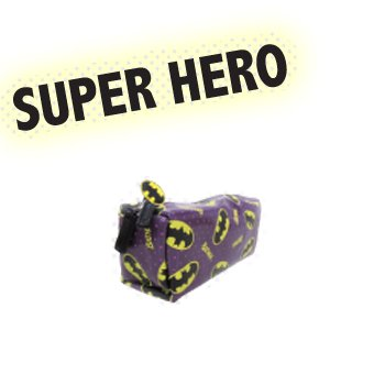 バットマン/BATMAN《ロゴ》BOXポーチアメコミキャラクターグッズ通販【A(パープル)】