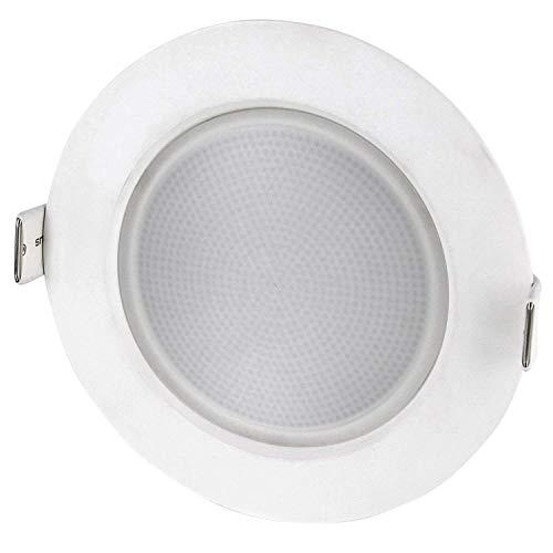 Spot LED encastrable de 10 W - Indice de protection IP44 - 230 V - Pour salle de bain - 800 lm - Diamètre : 120 mm - 120° - Blanc lumineux : 4 000 K