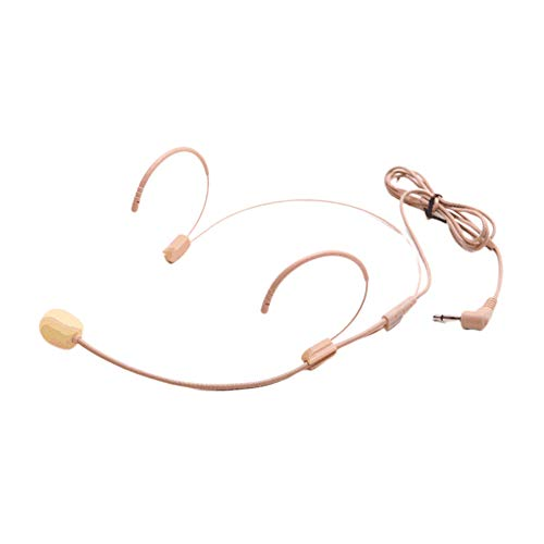 Mikrofon Studio Dual Hook Headset Guide Vorträge Tragbarer Lautsprecher Stimmenverstärker Kondensator Teaching Wired Hand Detachable (Flesh Tint)