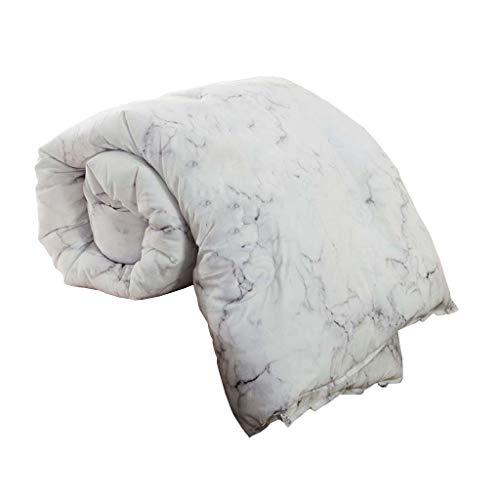 JO-Bedding Verdicken Baumwolle Bettwäsche, Anti-allergen und milbenfreie 100% Stoff - Ganz Baumwolle Padding,Grau,220x240cm/4KG