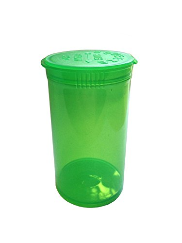 OEM SYSTEMS 50x 13 DRAM / 50ml Pop Top Bottle Stash Containers - Green