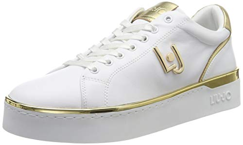 LIU JO Shoes Silvia 01 Sneaker Calf Leather, Zapatillas para Mujer, Blanco (White 01111), 38 EU